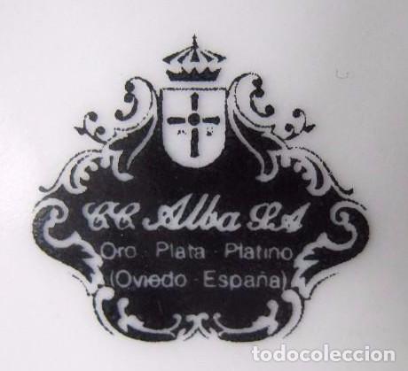 Antigüedades: ANTIGUO JUEGO DE CAFÉ PORCELANA C.C. ALBA S.A. ORO-PLATA-PLATINO (OVIEDO, ESPAÑA ) - Foto 6 - 94846631