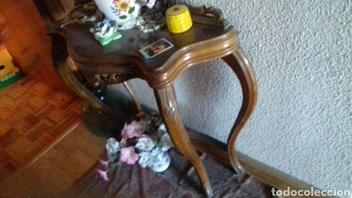 CONSOLA MADERA MACIZA. 1900 (Antigüedades - Muebles Antiguos - Consolas Antiguas)