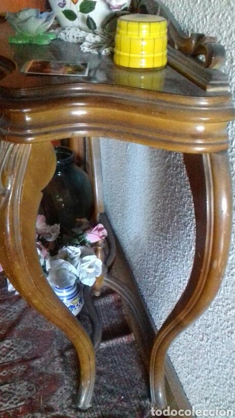 Antigüedades: Consola madera maciza. 1900 - Foto 3 - 94847511