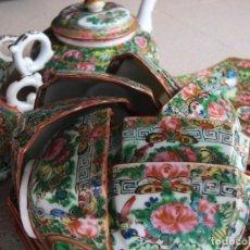 Antigüedades: ANTIGUO JUEGO DE TÉ CHINO. CÁSCARA DE HUEVO.. Lote 94848111