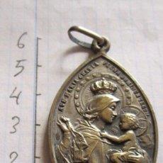 Antigüedades: MEDALLA PLATEADA VIRGEN MARIA - BEATA JOAQUIMA. Lote 94867019
