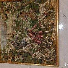 Antigüedades: TAPIZ ENMARCADO. Lote 94868163