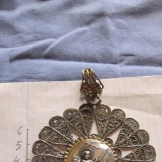 Antigüedades: MEDALLA DE CUNA DE FILIGRANA DE PLATA CORDOBESA. Lote 94868515