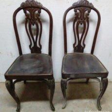 Antigüedades: 2 ANTIGUAS SILLAS. Lote 94901739