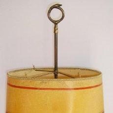 Antigüedades: LAMPARA DE ACEITE - ELECTRIFICADA.VER DESCRIPCION Y FOTOS.. Lote 94912103