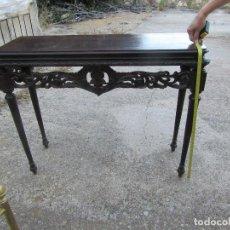 Antigüedades: CONSOLA DE MADERA MACIZA. Lote 94922975
