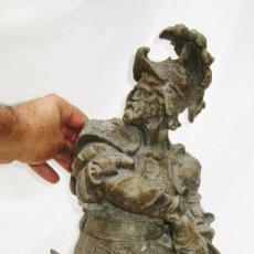 Antigüedades: EXCEPCIONAL GRAN FIGURA 60CM ANTIGUA RENACIMIENTO ESPAÑOL TIPO HERNAN CORTES . Lote 94930239