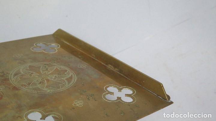 Antigüedades: ANTIGUO Y BONITO ATRIL DE IGLESIA DE BRONCE. SIGLO XIX - Foto 9 - 94950899