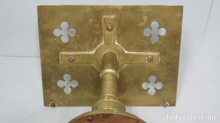 Antigüedades: ANTIGUO Y BONITO ATRIL DE IGLESIA DE BRONCE. SIGLO XIX - Foto 10 - 94950899