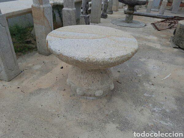 MESA DE PIEDRA DE GRANITO (Antigüedades - Varios)