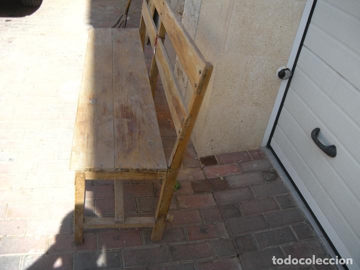 Antigüedades: ANTIGUO BANCO DE 3 PLAZAS - Foto 5 - 94962179