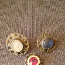 Antigüedades: JOYERIA PIEDRAS BOTONES ANTIGUOS. Lote 94978332