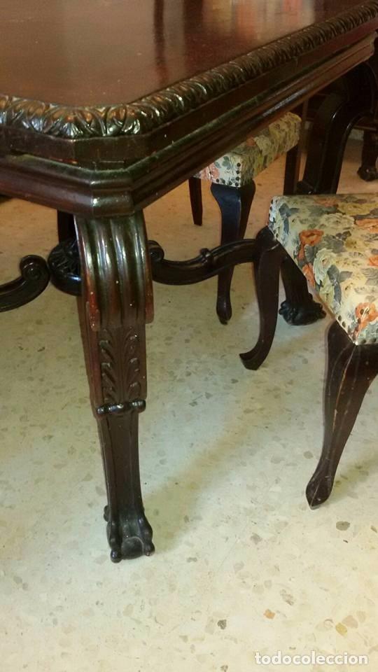 Antigüedades: conjunto comedor antiguo - Foto 4 - 95000075
