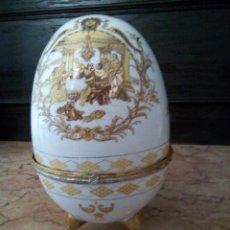 Antigüedades: * ANTIGUO HUEVO DE PORCELANA. JOYERO. (RF:GV/E). Lote 111815835