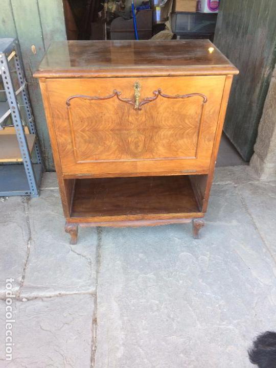 Antiguo mueble bar de los a os 40 50 con espejo comprar muebles auxiliares antiguos en - Mueble anos 50 ...