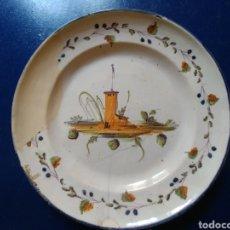Antigüedades: PLATO DE CERAMICA RIBESALBES S. XIX.. Lote 95057795