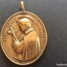 Antigüedades: MEDALLA DE SAN LUIS GONZAGA SIGLO XVIII EN BRONCE.4CMX3CM.. Lote 95064567