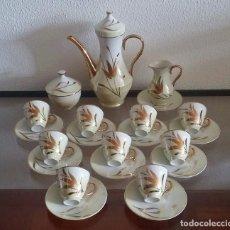 Antigüedades: JUEGO DE CAFÉ - ART DÉCO - PORCELANA FINA - 9 SERVICIOS - REF. 808. Lote 95154147