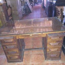 Antigüedades: ESCRITÓRIO DE ROBLE. Lote 95155564