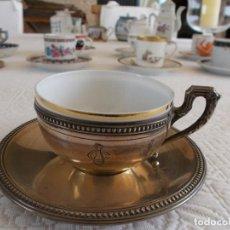 Antigüedades: PRECIOSA TAZA DE CAFÉ CON SU PLATO DE COLECCIÓN EN PLATA LEY 925 I 251,00 €. Lote 95162191