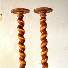 Antigüedades: PEDESTALES O COLUMNAS SALOMÓNICAS, MECETERO. Lote 95198355