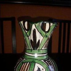 Antigüedades: CERÁMICA. JARRA DE VINO. DOMINGO PUNTER. ESCUDO DE TERUEL. 23 CM.. Lote 95220155