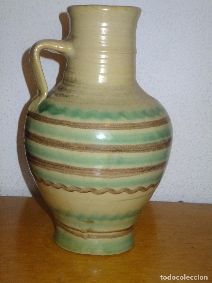 Antigüedades: cantarillo o pequeño cántaro de Lucena Códoba decorado con banda - Foto 2 - 95220567
