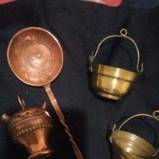 Antigüedades: ANTIGUOS OBJETOS DE COBRE Y BRONCE. Lote 95234787