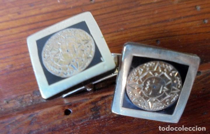 Antigüedades: Antiguos gemelos de alpaca - Foto 2 - 95250963
