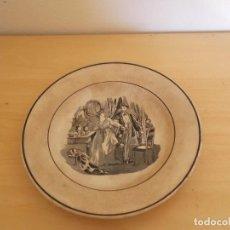 Antigüedades: ANTIGUO PLATO DE CARTAGENA ESCENA,RARO. Lote 95261311