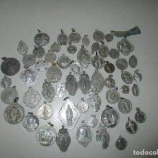 Antigüedades: LOTE - COLECCIÓN DE 56 MEDALLAS ANTIGUAS - DIFERENTES ÉPOCAS Y MEDIDAS. Lote 95286307