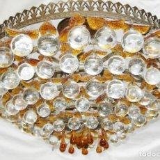 Antigüedades: GRAN LAMPARA ANTIGUA PLAFON BOLAS CRISTAL BOHEMIA CIRCA 1930. Lote 95289831