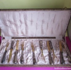 Antigüedades: CUBIERTOS ANTIGUOS ALPACA - METAL DORADOS Y PLATEADOS. Lote 95299887