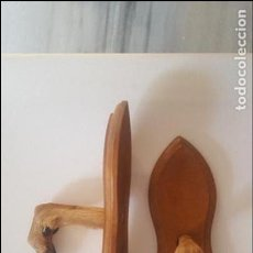 Antigüedades: PAREJA PATAS DE CORZO HECHAS PERCHEROS.. Lote 95306907
