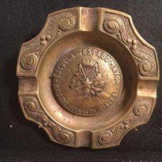 Antigüedades: CENICERO ESCUELA ESTADO MAYOR 1946 (BRONCE). Lote 95331315