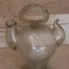 Antigüedades: PRECIOSO BOTIJO CATALÁN EN VIDRIO SOPLADO DEL SIGLO XIX. Lote 95335347