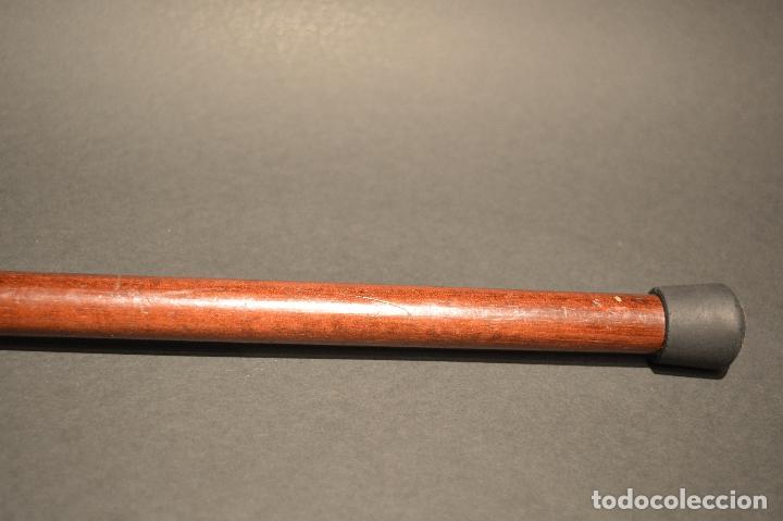 Antigüedades: ANTIGUO BASTON DE DOBLE USO MANGO EN BRONCE FORMA SERPIENTE COBRA - Foto 12 - 95337095