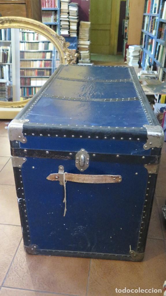 Antigüedades: ANTIGUO Y BONITO BAUL DE VIAJE - Foto 7 - 95348887