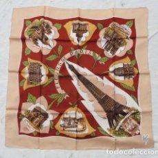 Antigüedades: PAÑUELO RECUERDO SOUVENIR DE PARIS.. Lote 95367487