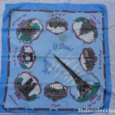 Antigüedades: PAÑUELO RECUERDO SOUVENIR DE PARIS.. Lote 95367615