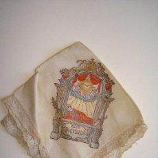 Antigüedades: ANTIGUO PAÑUELO DE SEDA CON PUNTILLA DE SANTA CASILDA DE TOLEDO.SIGLO XVIII - XIX.. Lote 95404731