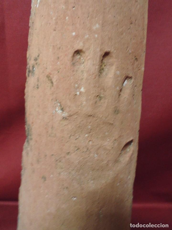 Antigüedades: magnifica teja antigua,ceramica catalana popular, mano grabada,de mediados del XIX - Foto 2 - 95407451