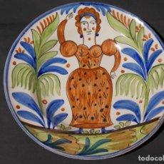 Antigüedades: ANTIGUO PLATO LOZA MANISES DE CERÁMICA. Lote 95410423