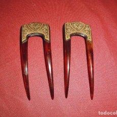 Antigüedades: ANTIGUAS DOS PEINETAS TOLEDANAS. Lote 95415267