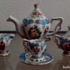 Antigüedades: JUEGO DE CAFÉ - 1 SERVICIO SOLITARIO - PORCELANA FINA - MINIATURA - REF. 813. Lote 95416571