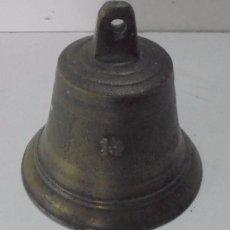 Antigüedades: BONITA CAMPANA ANTIGUA DE BRONCE . Lote 95451923