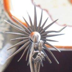 Antigüedades: BONITA VIRGEN DEL PILAR DE PLATA. AÑOS 60. Lote 95511107