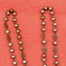Antigüedades: ROSARIO REALIZADO INTEGRAMENTE EN PLATA DE APROXIMADAMENTE 1900. Lote 95532711