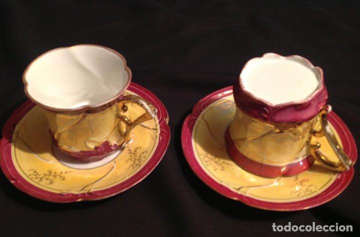 CUATRO TAZAS DE CAFÉ MODERNISTAS (Antigüedades - Porcelanas y Cerámicas - Otras)
