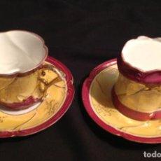 Antigüedades: CUATRO TAZAS DE CAFÉ MODERNISTAS. Lote 95561515